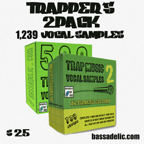 Product picture Trappers 2PACk (1239 Original Vocal Samples!)
